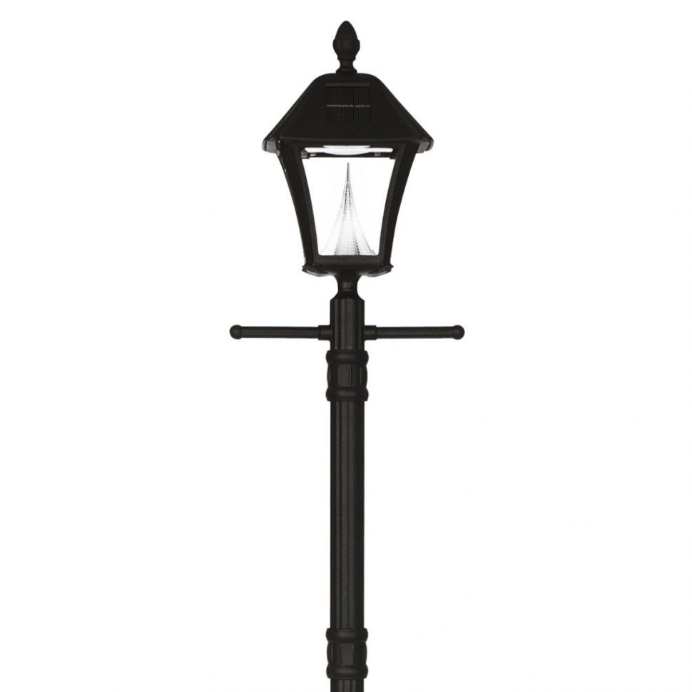 Outdoor Light Pole Electrical Outlet Post Lighting Electric Garden pertaining to Outdoor Patio Electric Lanterns (Image 13 of 20)