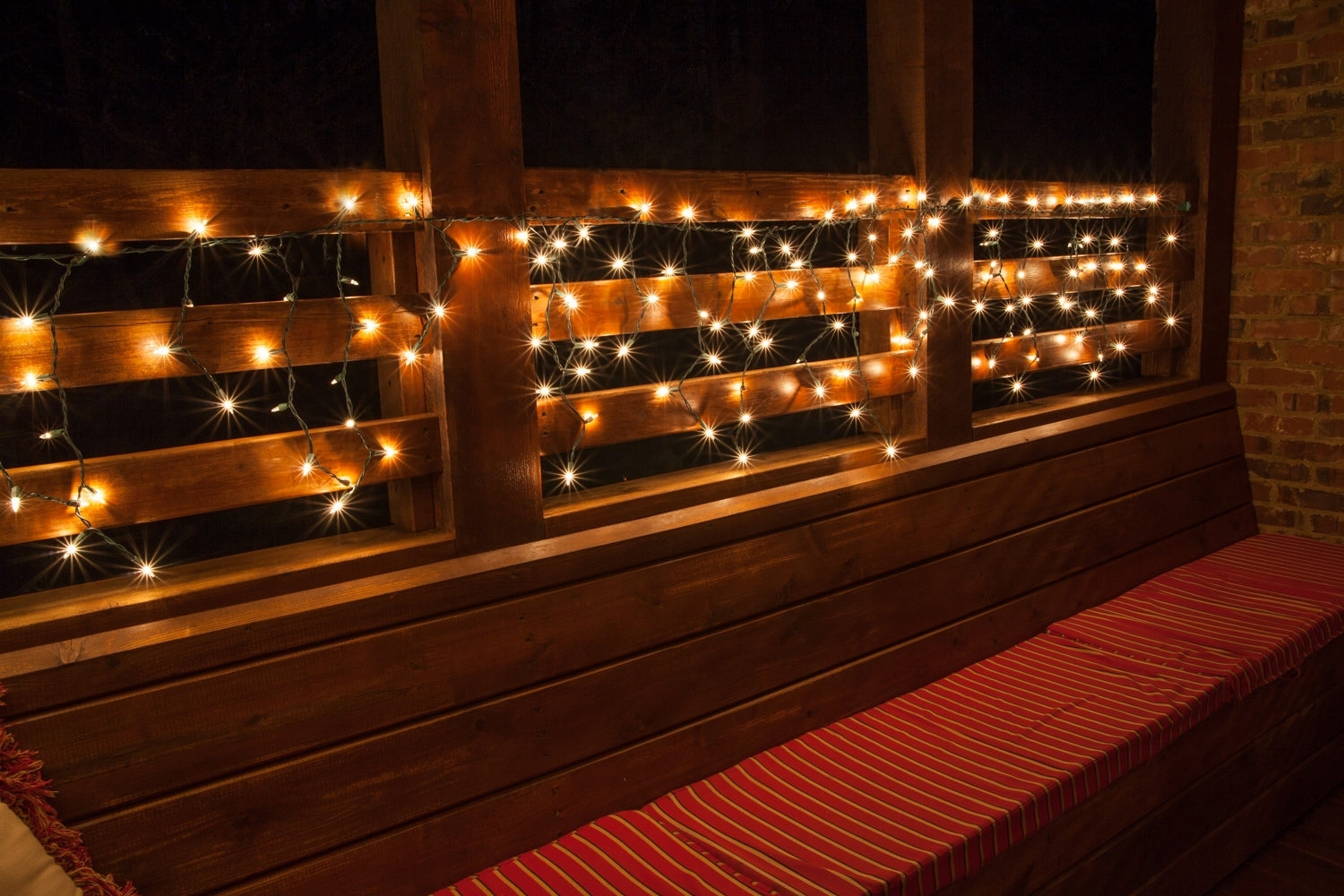 Outdoor Lighting For Fence String Lights Designs Hang On Balcony with Outdoor Lanterns On String (Image 11 of 20)