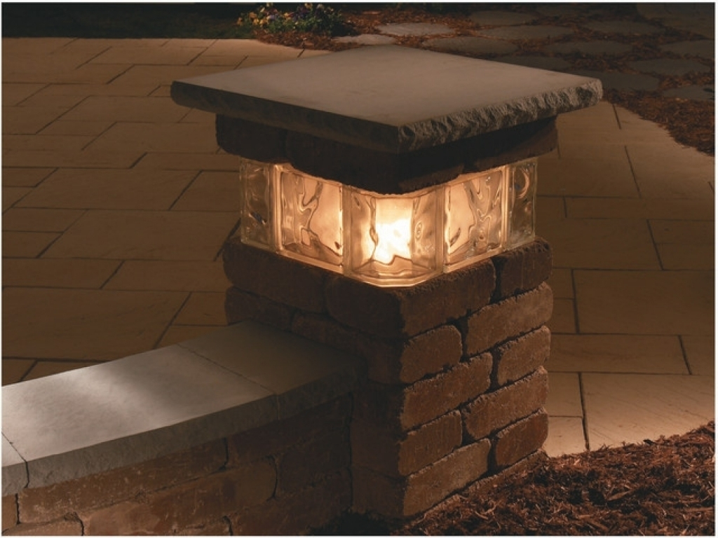 Outdoor Lighting Kits Top Solar Lights Pillar Zero Gravity Lounge in Outdoor Pillar Lanterns (Image 8 of 20)