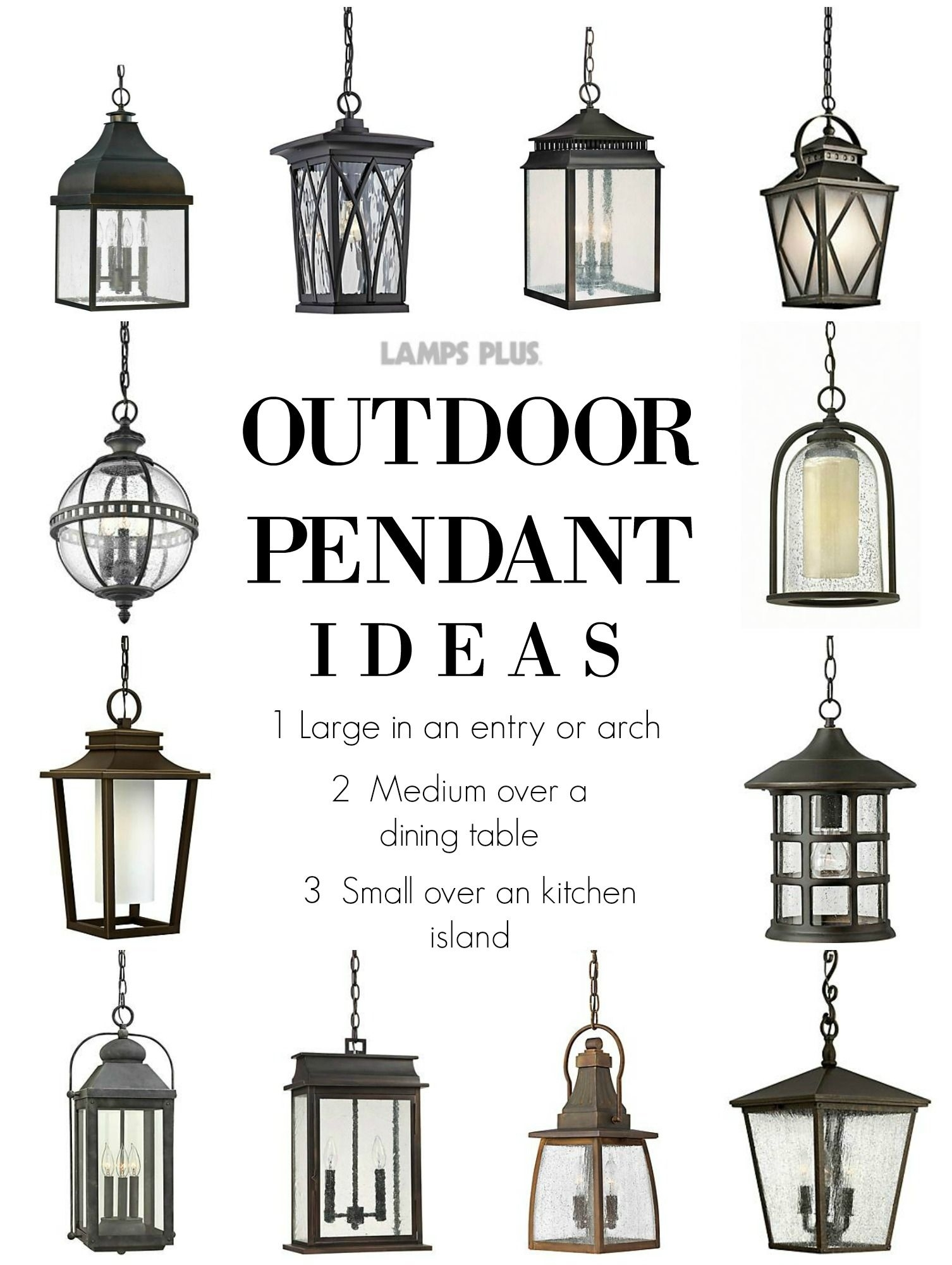 Outdoor Lighting - Outdoor Pendant Ideas From @lampsplus intended for Outdoor Pendant Lanterns (Image 8 of 20)