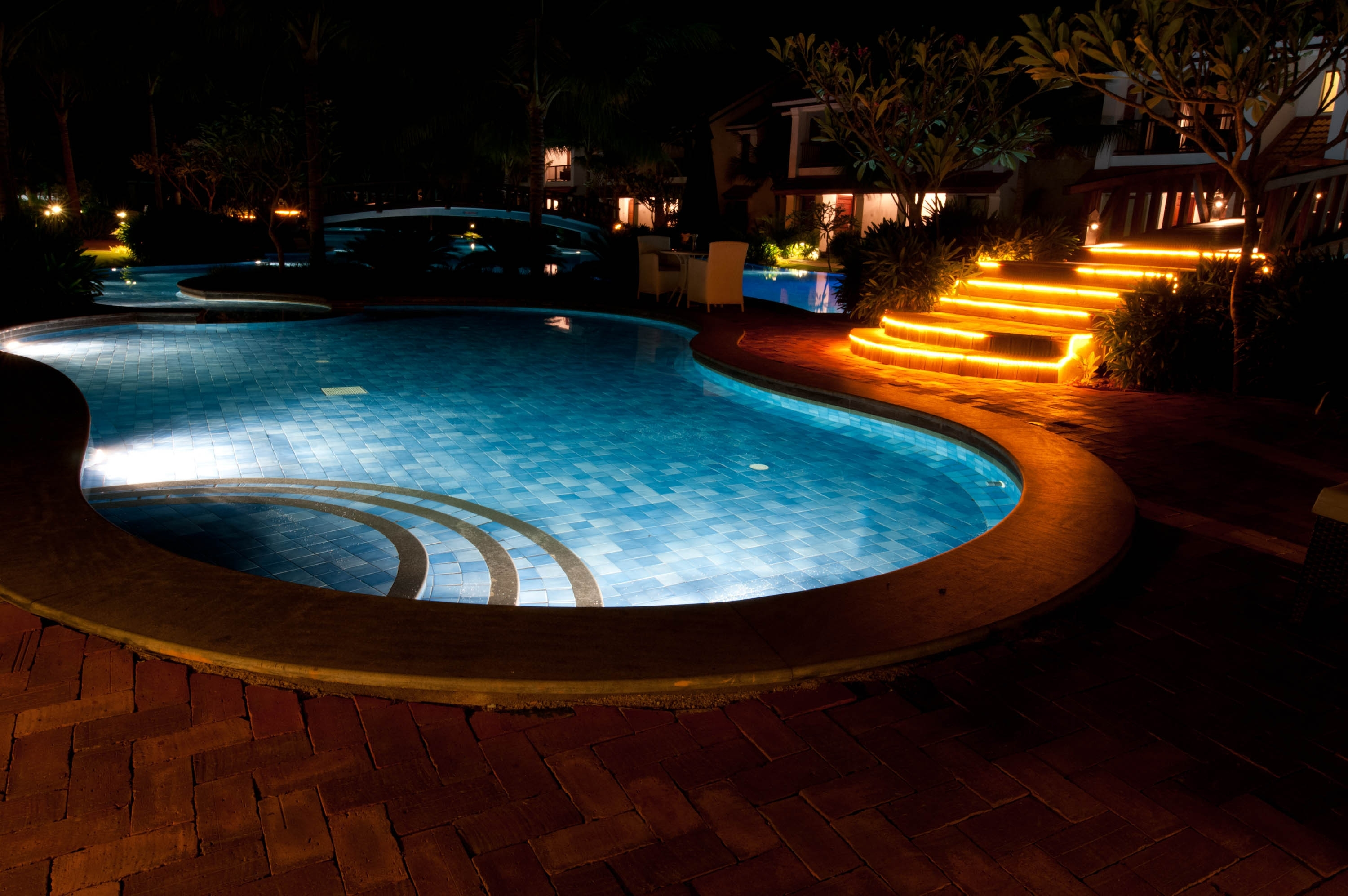 Outdoor Lighting Trends For Long Winter Nights - Cypress Custom Pools intended for Outdoor Lanterns For Poolside (Image 16 of 20)
