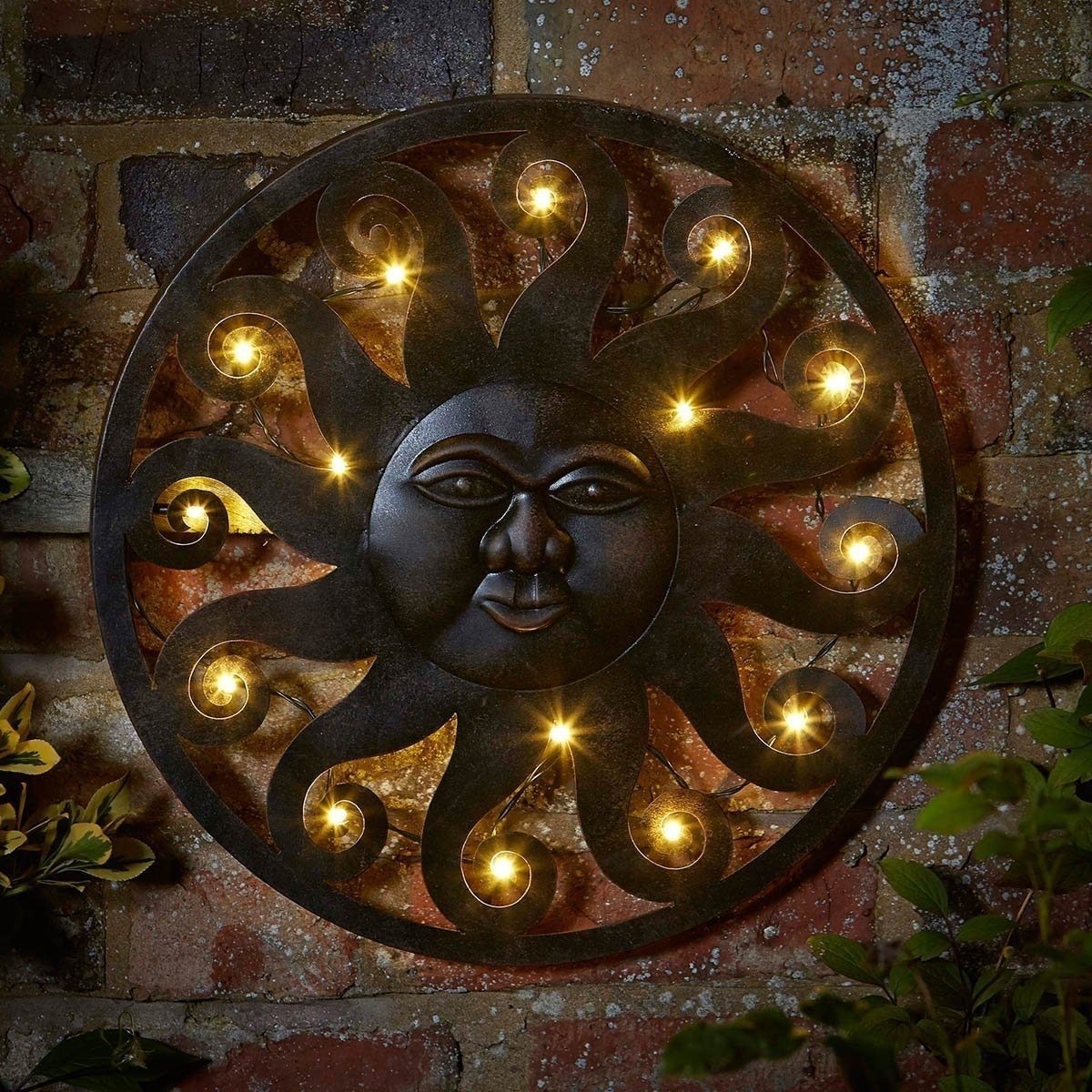 Outdoor Metal Sun Wall Art : Into The Glass Beautiful Outdoor Iron within Outdoor Sun Wall Art (Image 11 of 20)