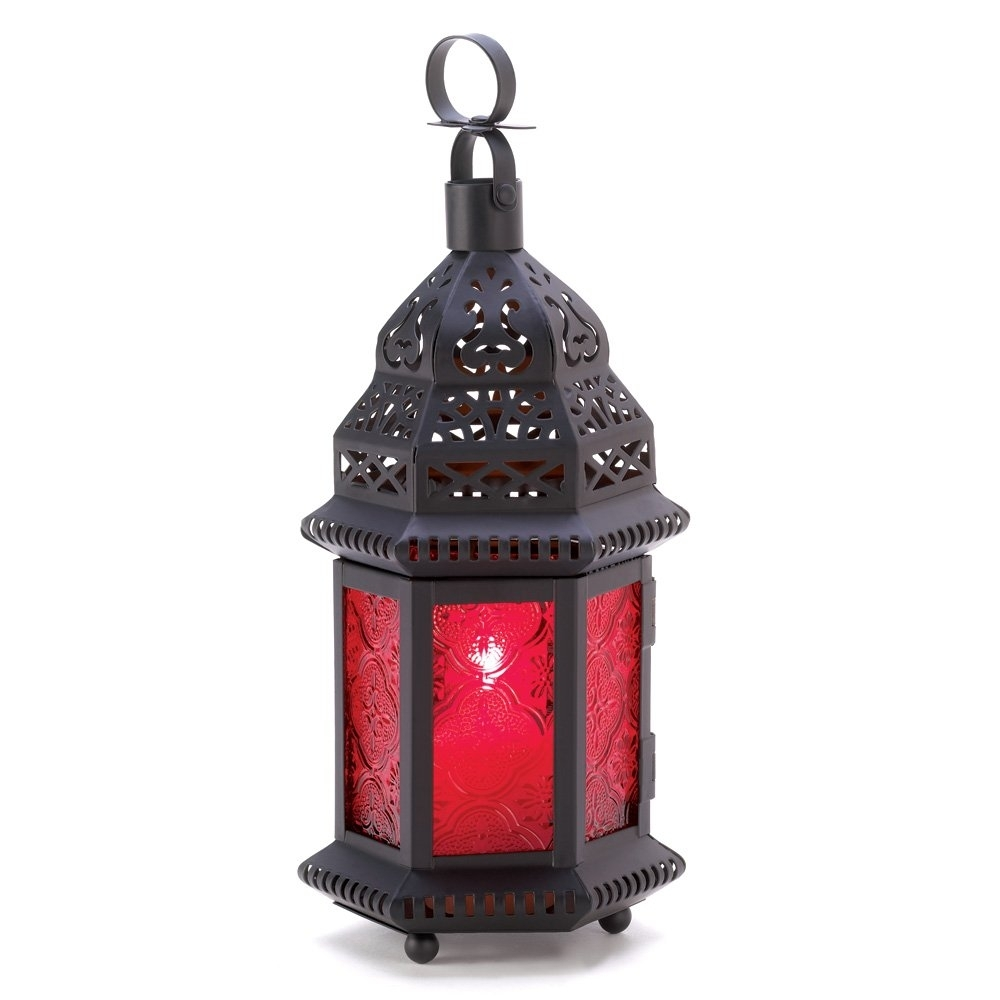 Outdoor Moroccan Lantern, Metal Moroccan Lanterns Decor For Table with regard to Outdoor Lanterns Without Glass (Image 17 of 20)
