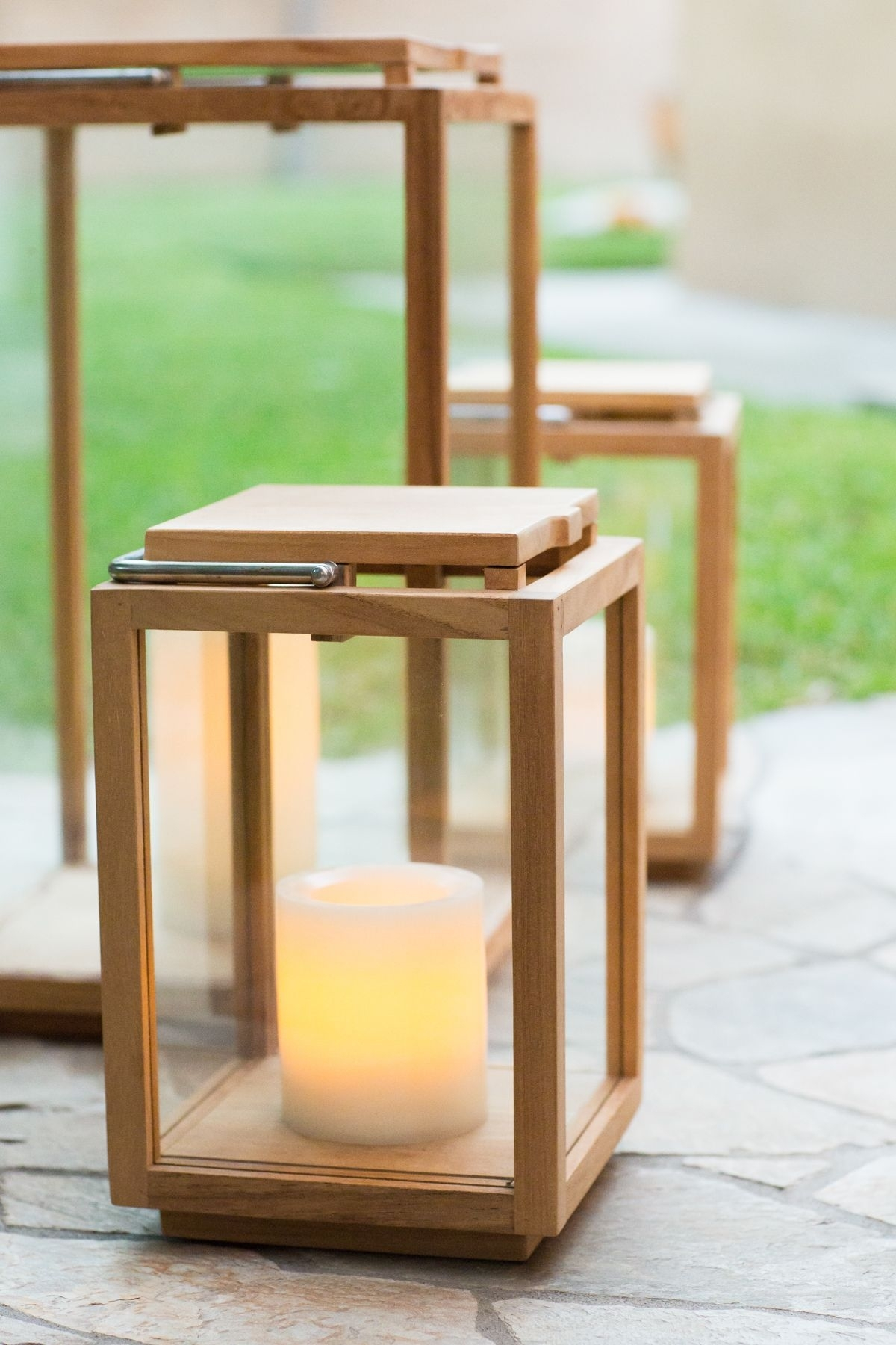 Outdoor Patio Teak Lanterns // Outdoor Lighting // Patio // Outdoor Pertaining To Outdoor Teak Lanterns (View 9 of 20)