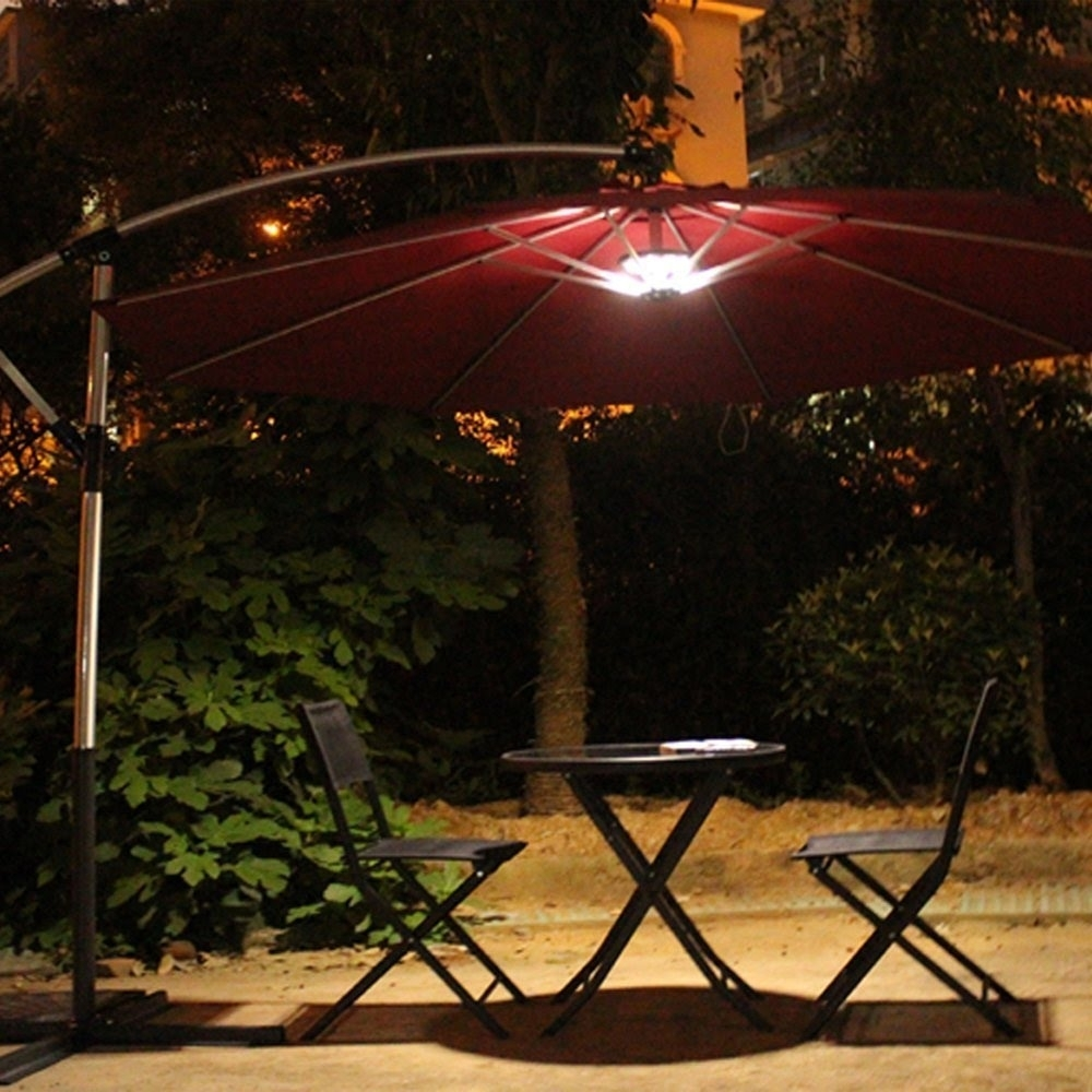 Outdoor Patio Umbrella Light Review - Youtube with regard to Outdoor Battery Lanterns for Patio (Image 16 of 20)