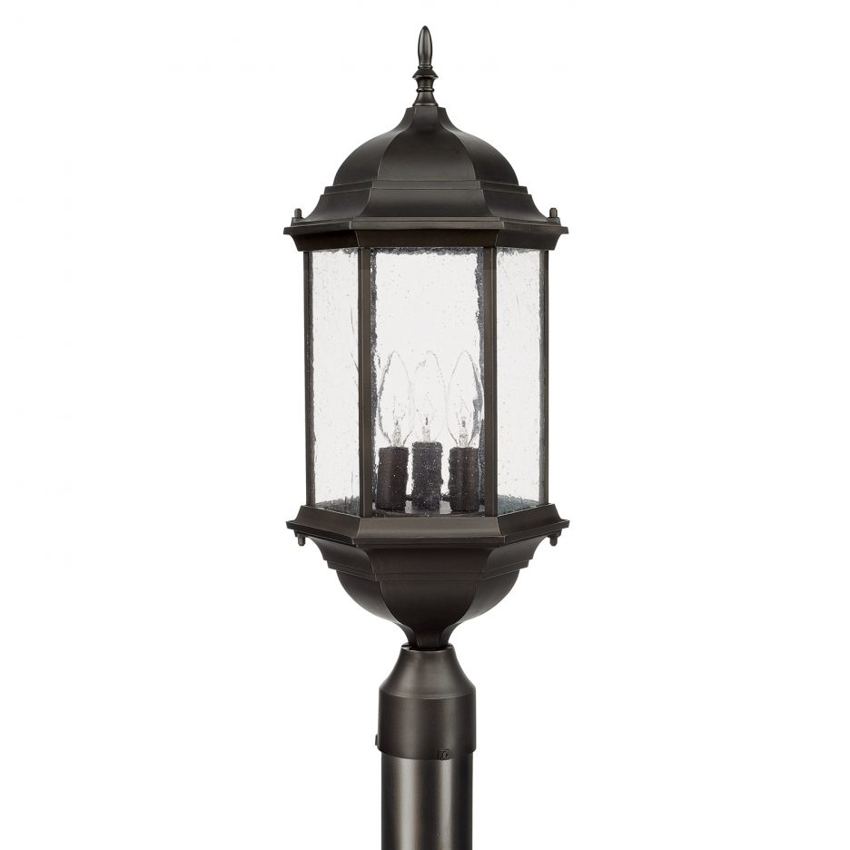 Outdoor Post Fixture Lamp Post Exterior Pole Lamps Pillar Lights in Outdoor Pillar Lanterns (Image 12 of 20)