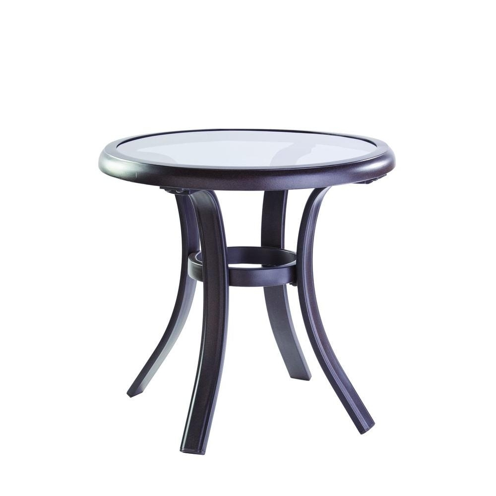 Outdoor Side Tables - Patio Tables - The Home Depot throughout Jackson Marble Side Tables (Image 15 of 30)