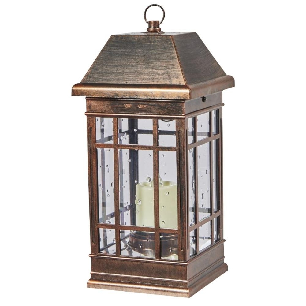 Outdoor Table Lamps – Outdoor Lamps – The Home Depot With Red Outdoor Table Lanterns (View 5 of 20)