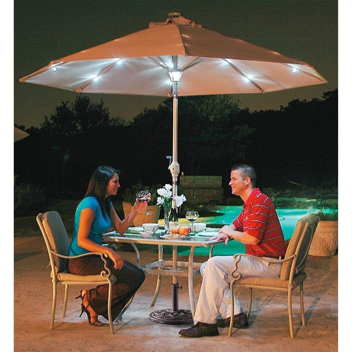 Outdoor Umbrella Lights Type — Sherizampelli Landscape With Regard To Outdoor Umbrella Lanterns (View 9 of 20)