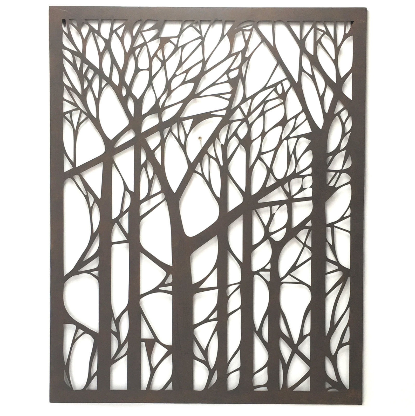 Outdoor Wall Art Metal Tree Hanging Garden Iron Sculpture Laser intended for Outdoor Metal Wall Art (Image 15 of 20)