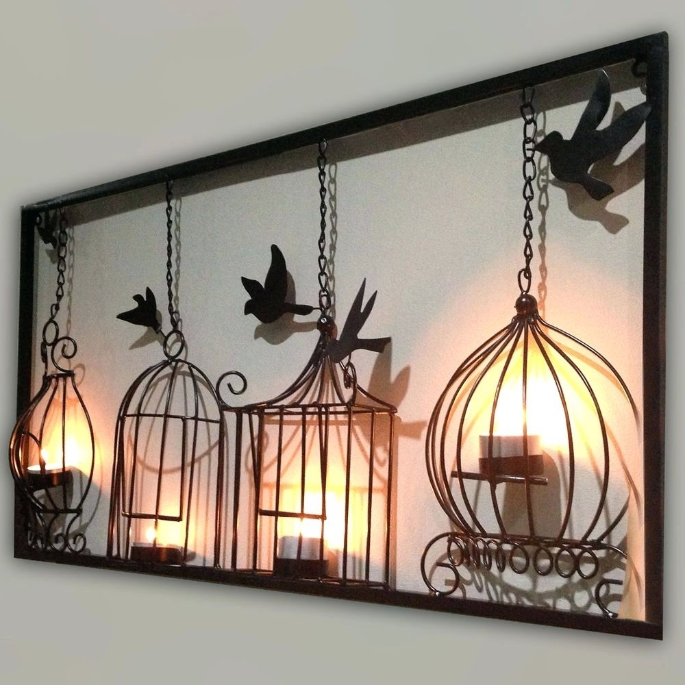 Outdoor Wall Art Wrought Iron Large Black Decorative – Awesome Home Intended For Large Outdoor Wall Art (View 18 of 20)