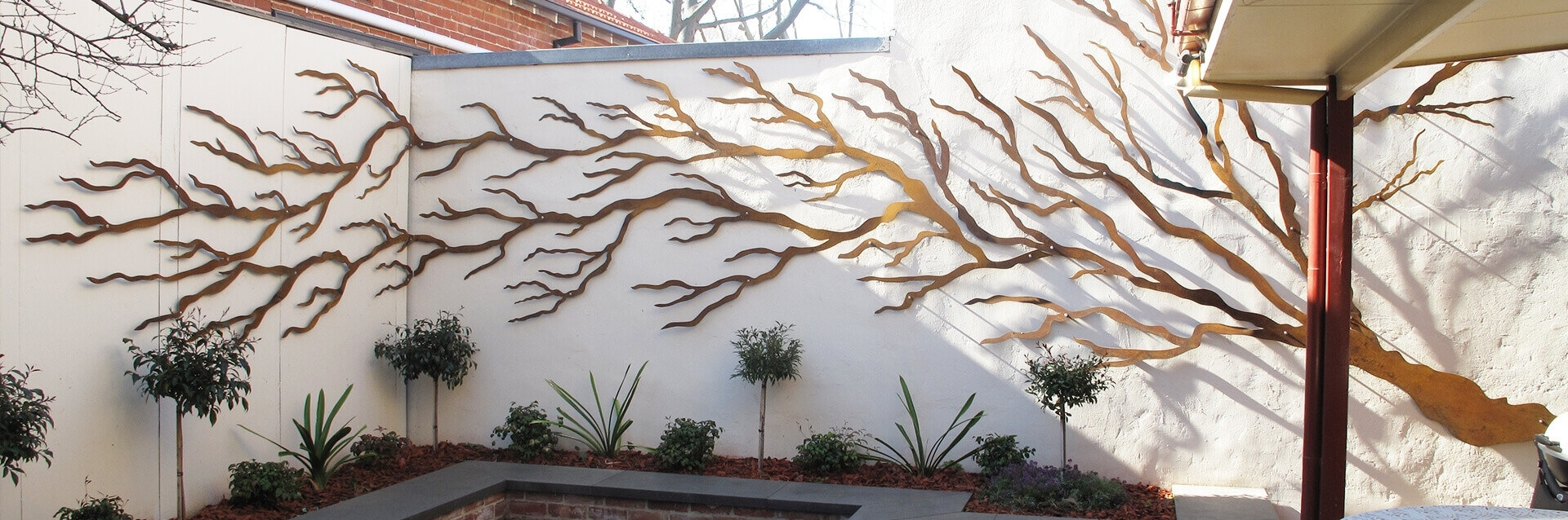 Outdoor Wall Hangings Art Japsinfo Australia Nz Sculptures Metal throughout Outdoor Wall Art (Image 15 of 20)