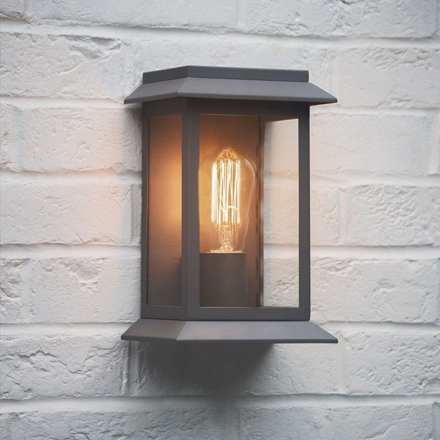 Outdoor Wall Mounted Grosvenor Porch Light In Charcoal | Outdoor within Outdoor Door Lanterns (Image 19 of 20)