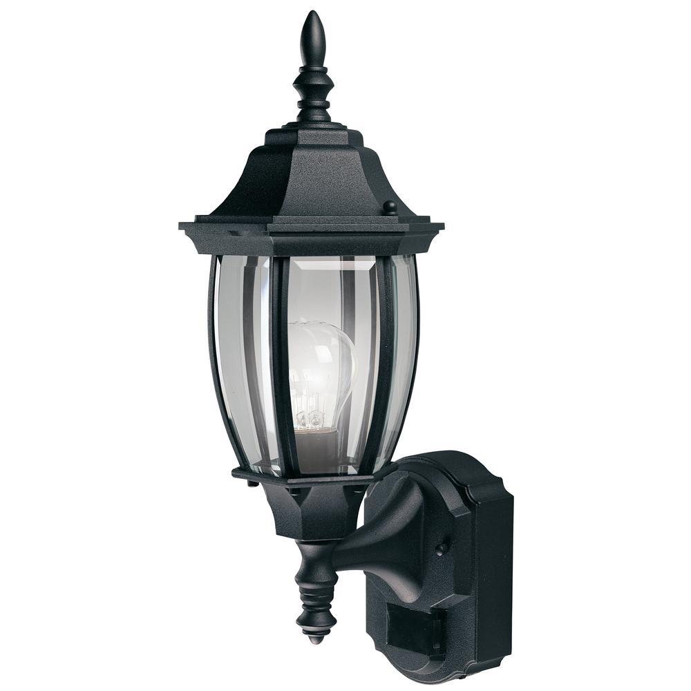 Outdoor Wall Mounted Lighting – Outdoor Lighting – The Home Depot Regarding Resin Outdoor Lanterns (View 9 of 20)