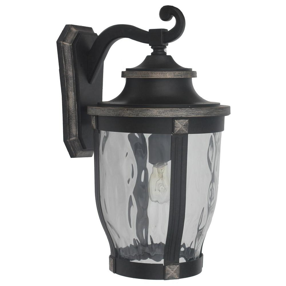 Outdoor Wall Mounted Lighting - Outdoor Lighting - The Home Depot throughout Wall Mounted Outdoor Lanterns (Image 13 of 20)