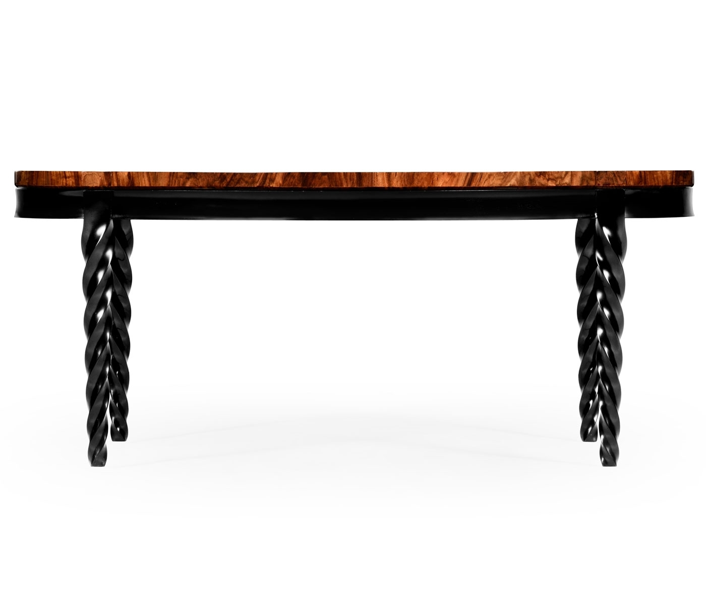 Oval Black Barleytwist Quatrefoil Coffee Table with Barley Twist Coffee Tables (Image 19 of 30)