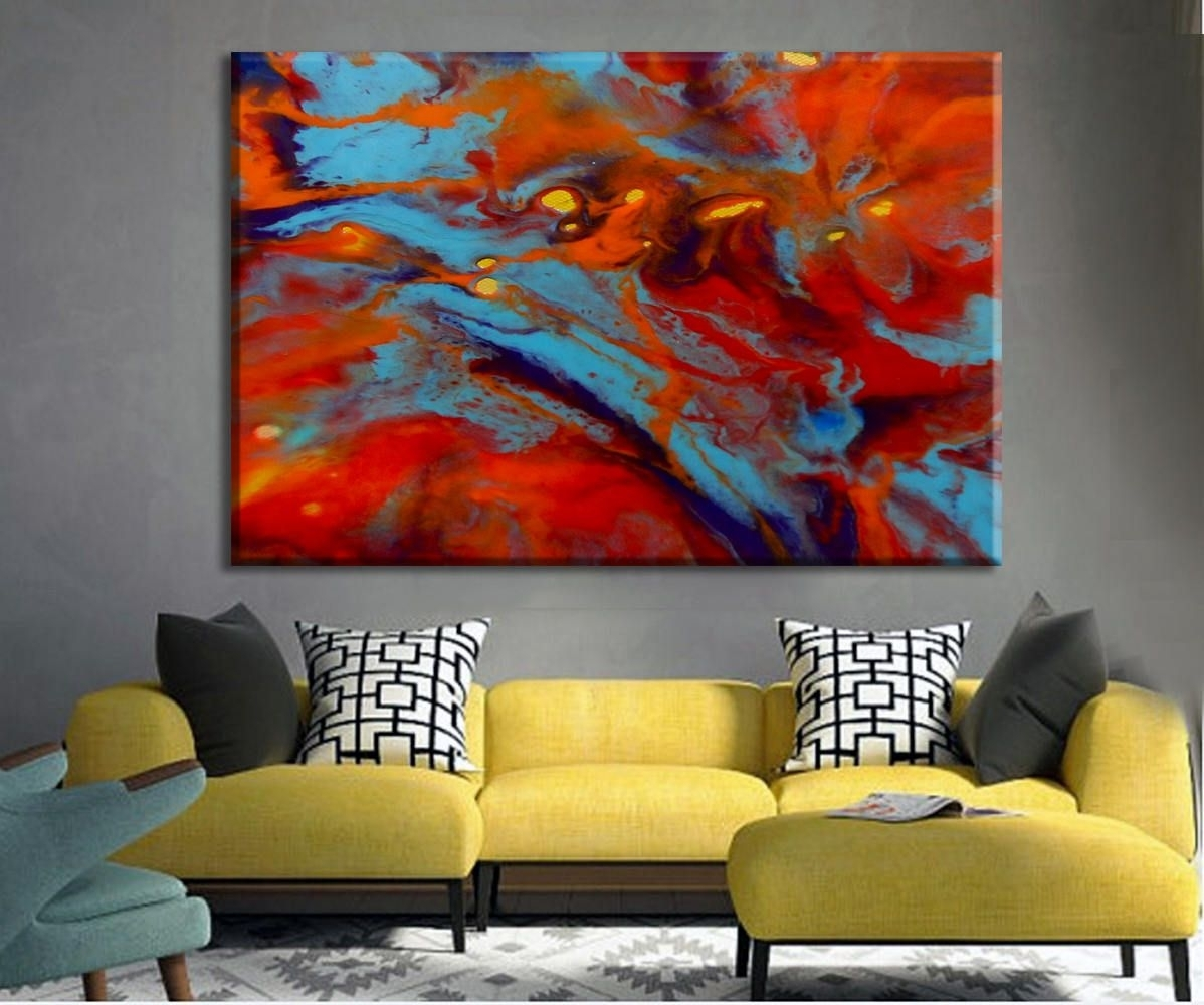Oversize Art Print, Colorful Art, Large Canvas Print, Abstract within Abstract Oversized Canvas Wall Art (Image 15 of 20)