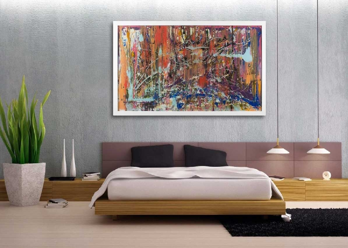 Oversized Wall Art Contemporary Abstract Canvas Home, Oversized for Abstract Oversized Canvas Wall Art (Image 17 of 20)