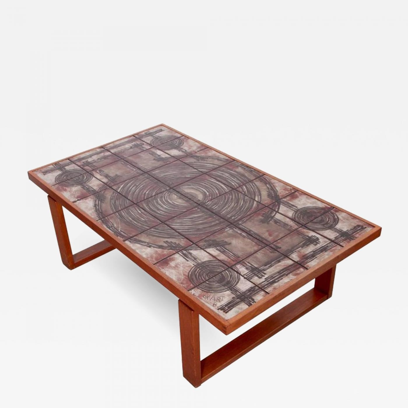 Ox-Art - Large Danish Teak Art Sofa Or Coffee Tableox-Art with regard to Large Teak Coffee Tables (Image 22 of 30)
