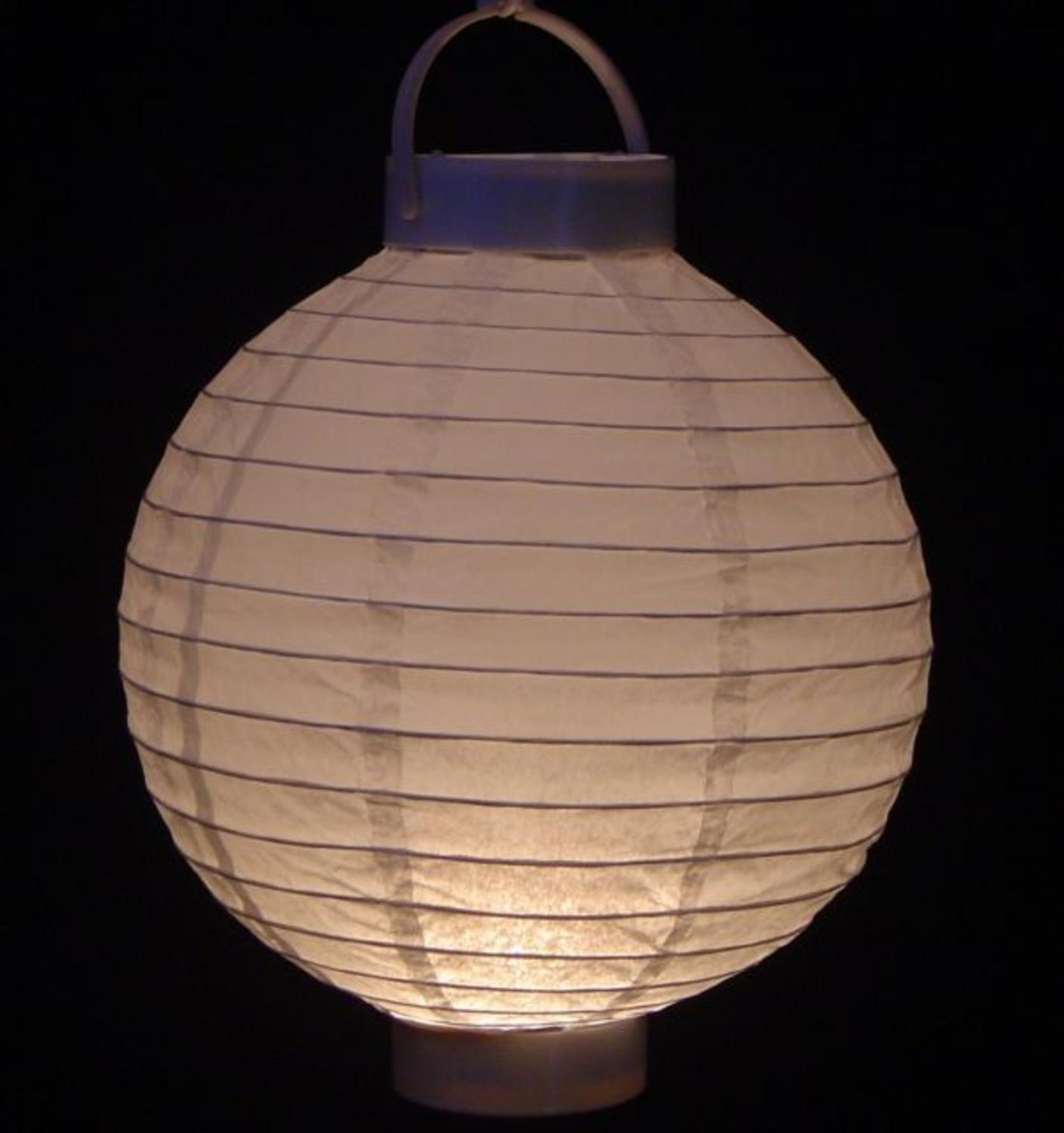 Pack Of 3 Lighted Battery Operated White Garden Patio Chinese Paper Pertaining To Outdoor Battery Lanterns For Patio (Photo 1 of 20)