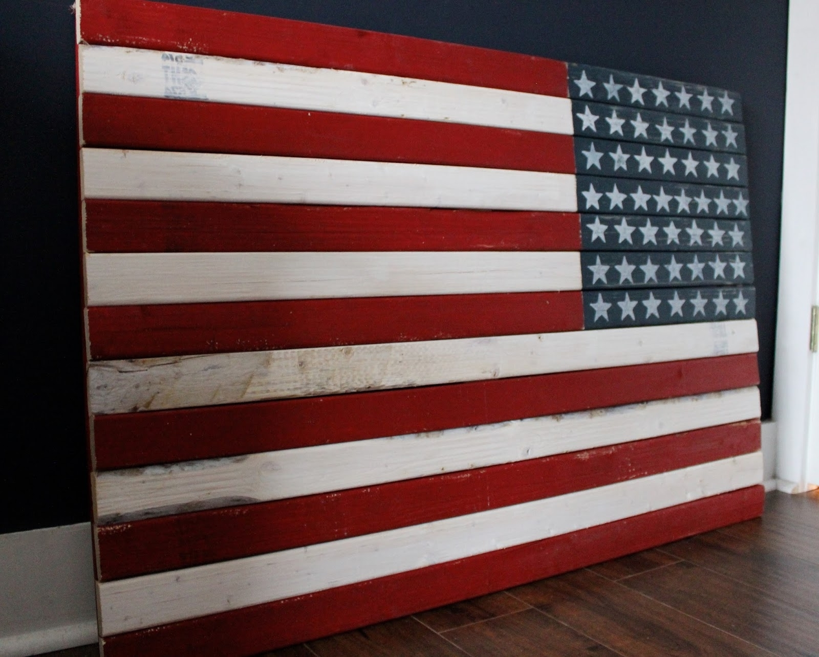 Painted American Flag Wall Art The Yellow Cape Cod How To Make A Diy throughout American Flag Wall Art (Image 13 of 20)