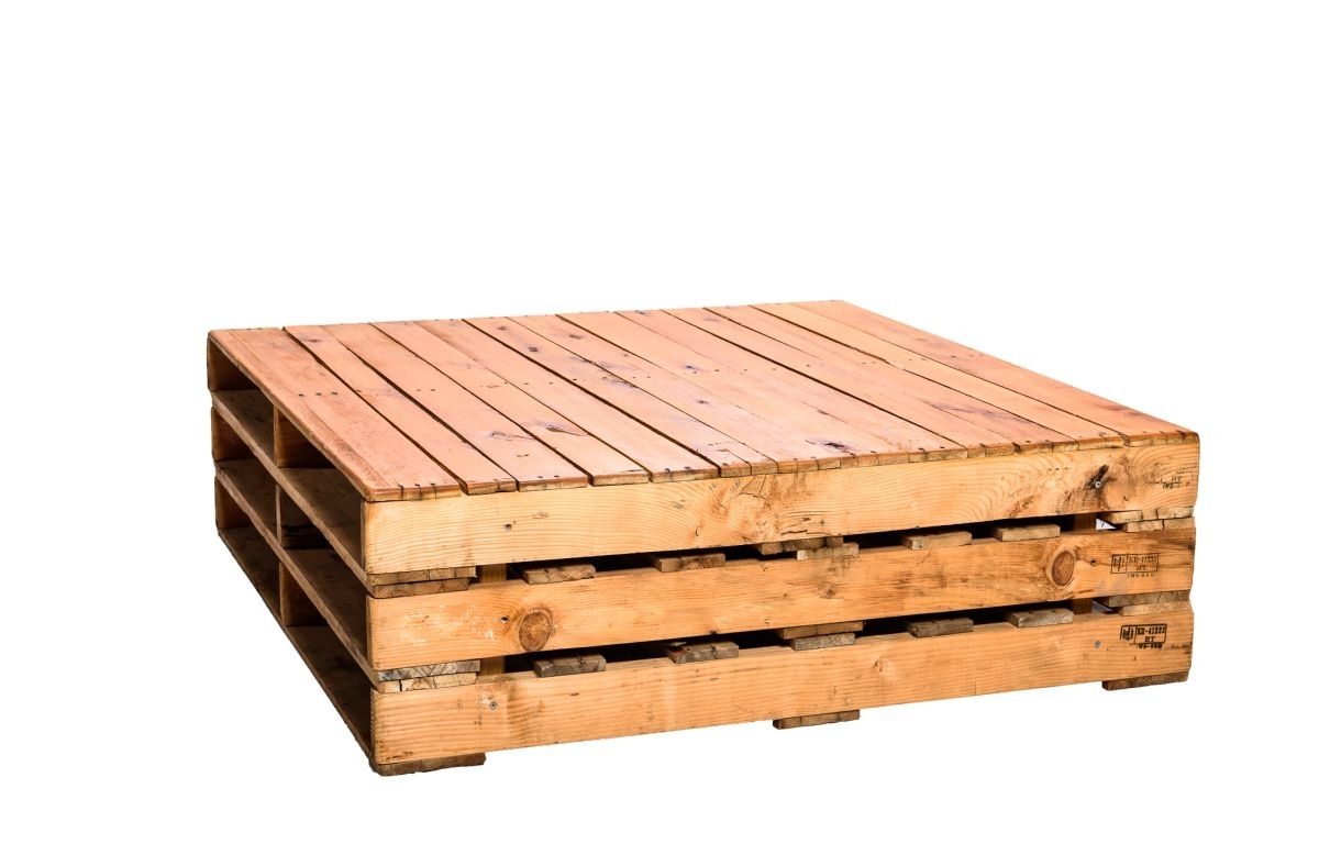 Pallet Coffee Table Large - 1.2Ml X 1.2Mw X 35Cmh - The Event Mill with regard to Mill Large Coffee Tables (Image 20 of 30)