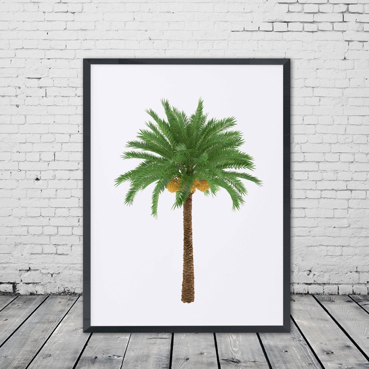Palm Tree Wall Art Poster Palm Nursery Art Gift Green Tree Art inside Palm Tree Wall Art (Image 12 of 20)