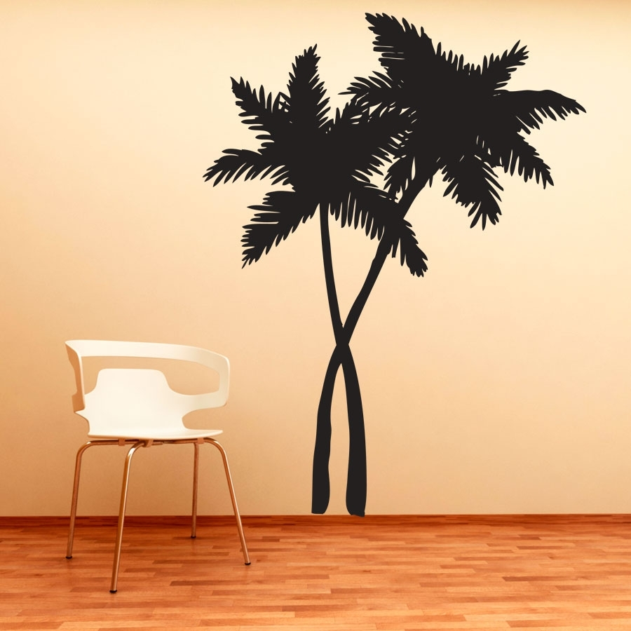 Palm Tree Wall Art This Swaying Trees Decal Will Give Any Room The in Palm Tree Wall Art (Image 15 of 20)