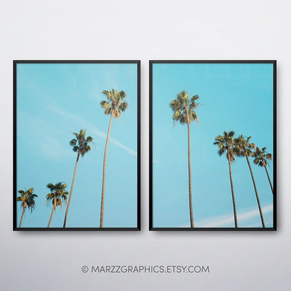 Palm Trees Printable, Palm Trees Print, Palm Trees Wall Art, Palm Within Palm Tree Wall Art (Photo 4 of 20)