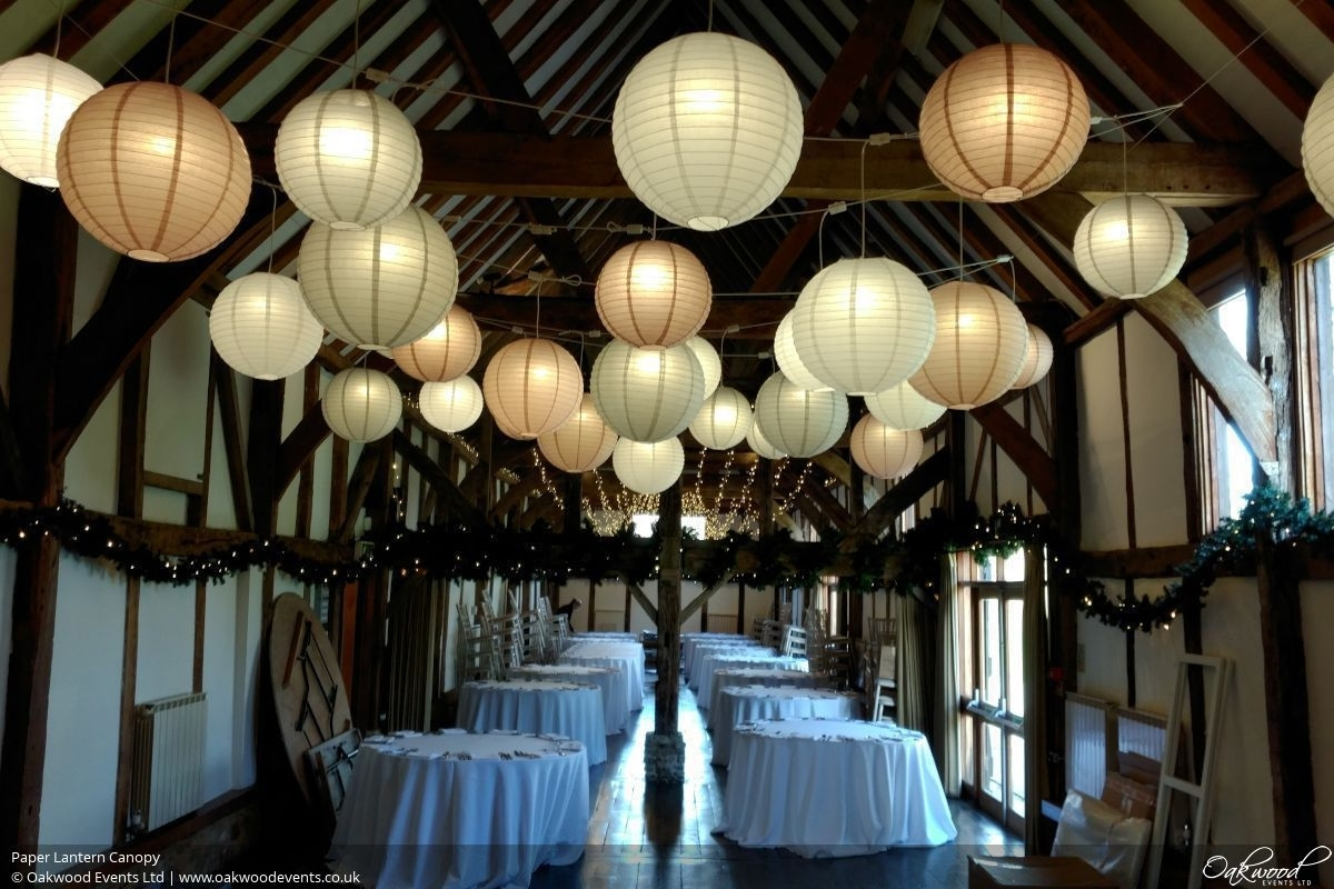 Paper Lantern Hire | Oakwood Events With Regard To Outdoor Hanging Japanese Lanterns (View 15 of 20)