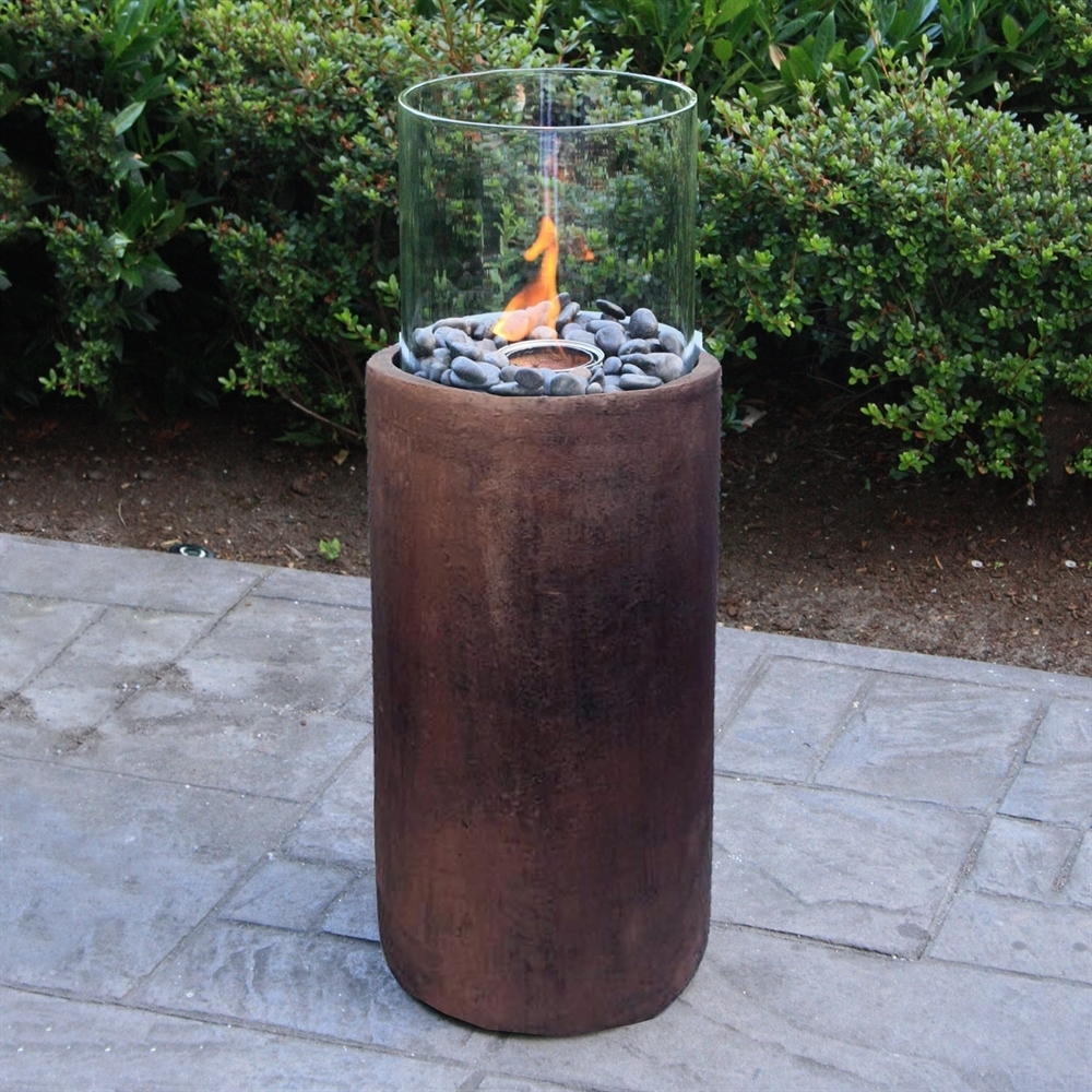 Paramount Gfb-212-Bz 27-In Concrete Fire Column Garden Gel Burner in Outdoor Gel Lanterns (Image 11 of 20)