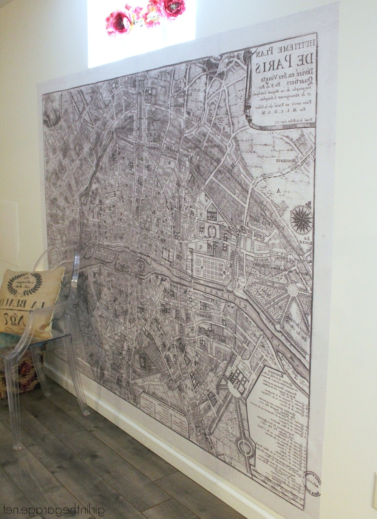 Paris Map Wall Art | Realvalue – within Map of Paris Wall Art (Image 14 of 20)