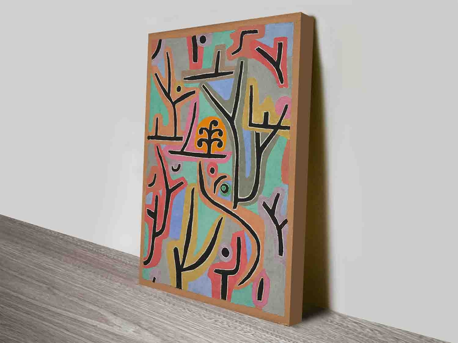Park Bei Lupaul Klee Modern Artist Discount Wall Art Canvas Prints Within Discount Wall Art (View 18 of 20)