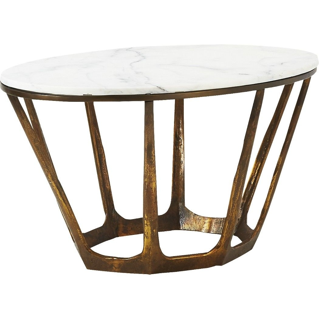 Parker Oval Marble Coffee Table | Pinterest | Polished Brass with Parker Oval Marble Coffee Tables (Image 26 of 30)