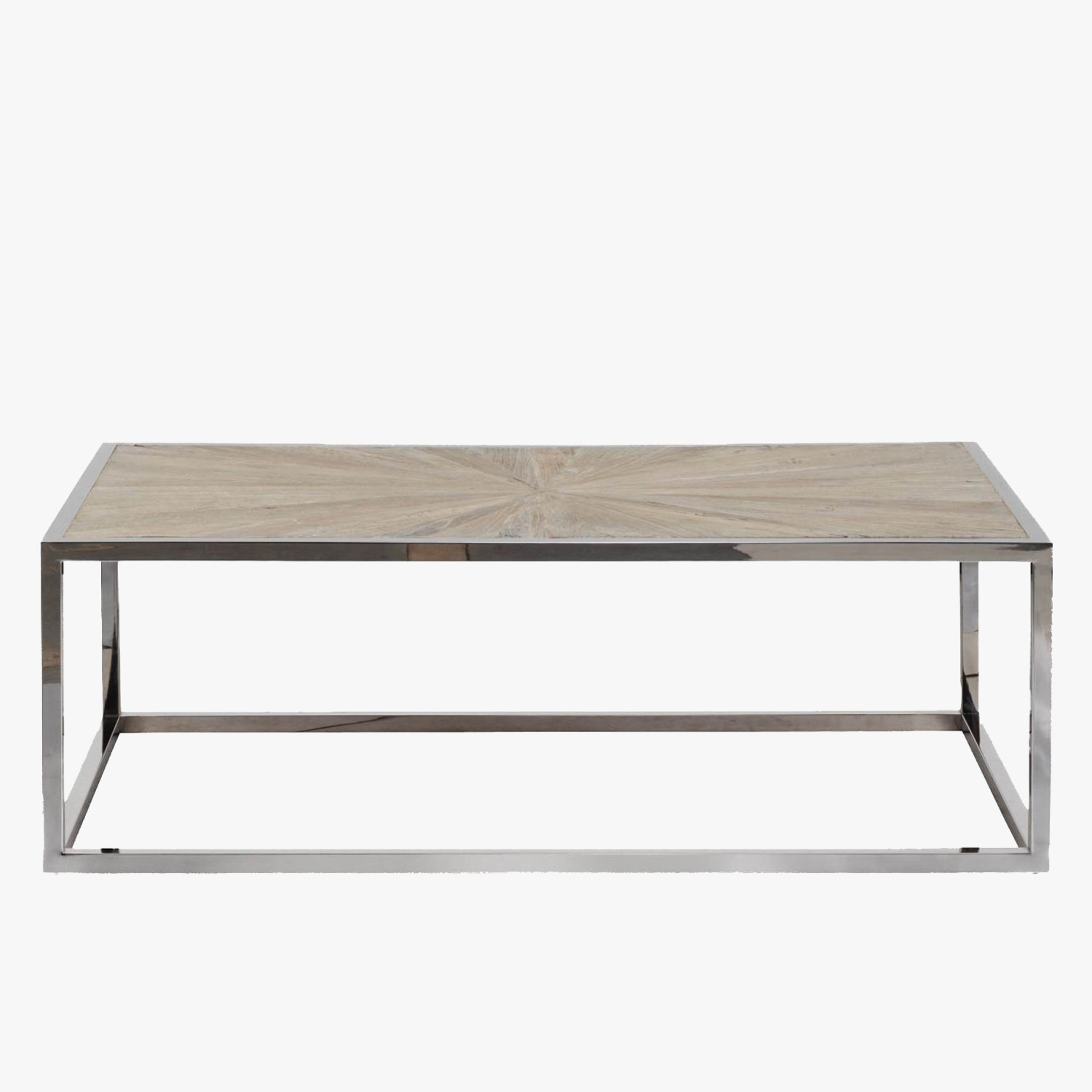 Parquet Top Chrome Coffee Table – Shop Coffee Tables – Dear Keaton Regarding Parquet Coffee Tables (View 8 of 30)