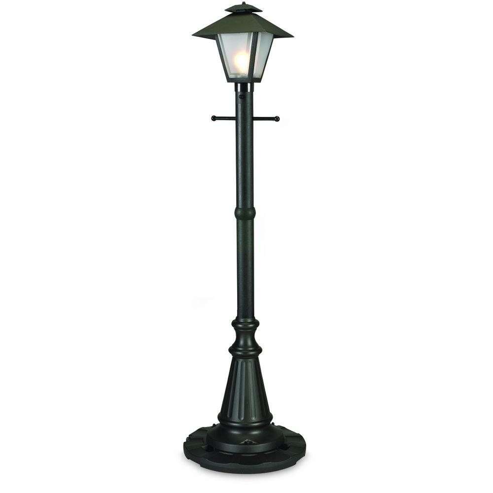 Patio Living Concepts Cape Cod Black Outdoor Plug In Post Lantern Intended For Plug In Outdoor Lanterns (Photo 2 of 20)