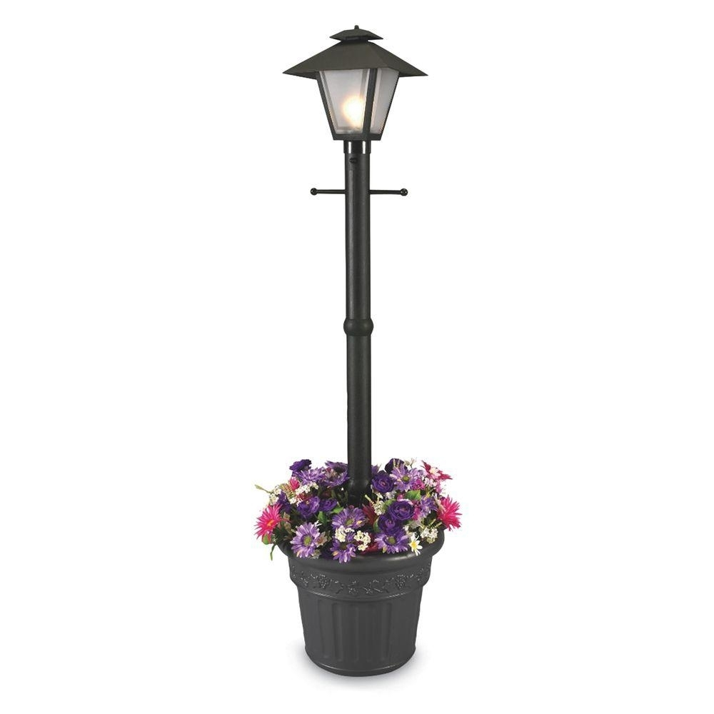 Patio Living Concepts Cape Cod Plug In Outdoor Black Post Lantern Throughout Plug In Outdoor Lanterns (Photo 3 of 20)