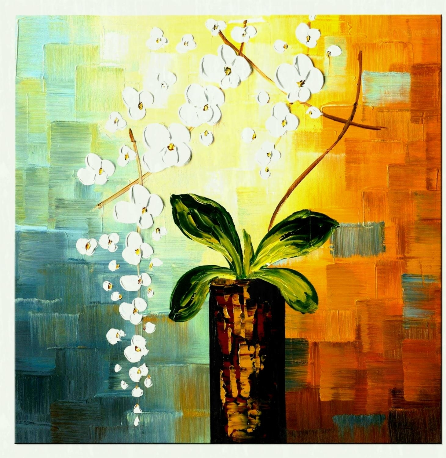 Pc Floral Canvas Wall Art Cheap Oil Paintings For Throughout Regarding Floral Canvas Wall Art (Photo 13 of 20)