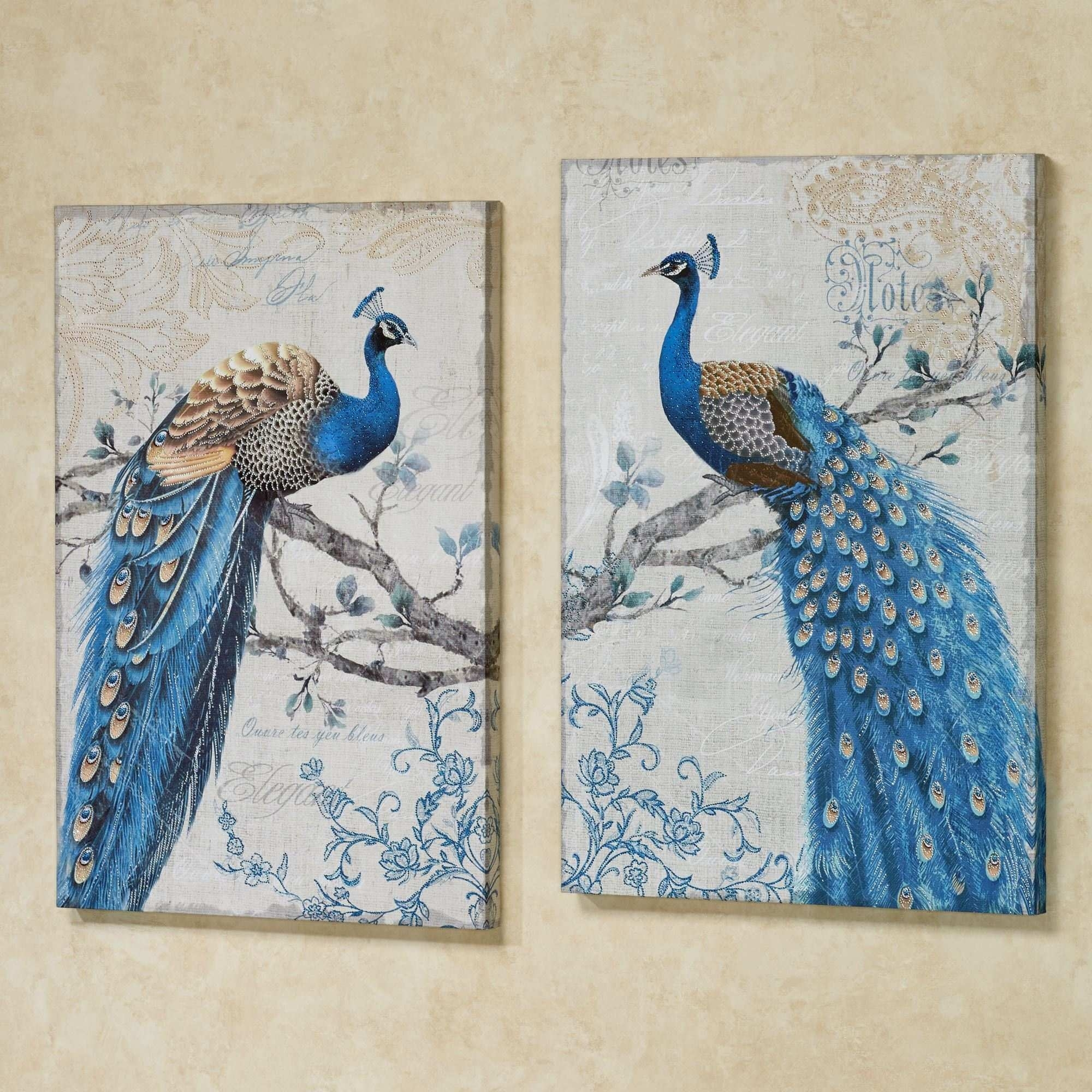 Peacock Canvas Painting Luxury Magnificent Peacock Giclee Canvas Regarding Peacock Wall Art (View 6 of 20)