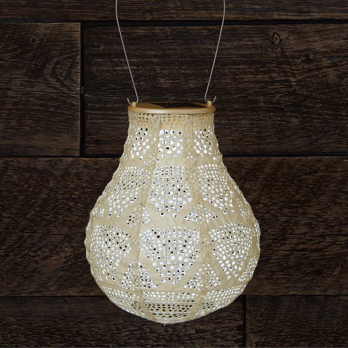 Pearl Teardrop Solar Lantern | Weather Resistant Outdoor Light Pertaining To Outdoor Weather Resistant Lanterns (View 11 of 20)