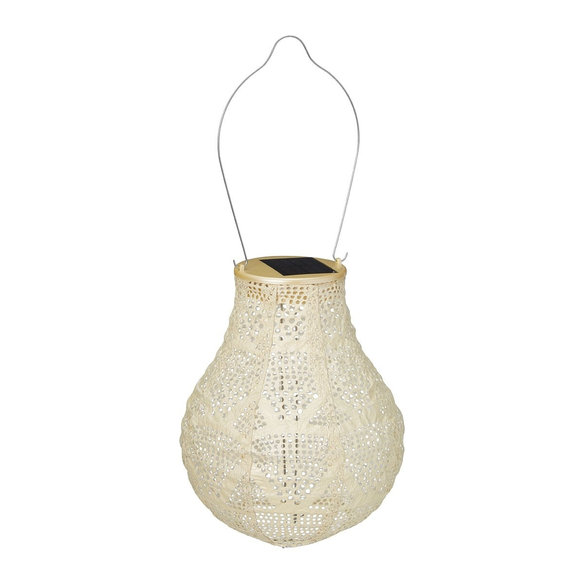 Pearl Teardrop Solar Lantern | Weather Resistant Outdoor Light With Outdoor Weather Resistant Lanterns (View 12 of 20)