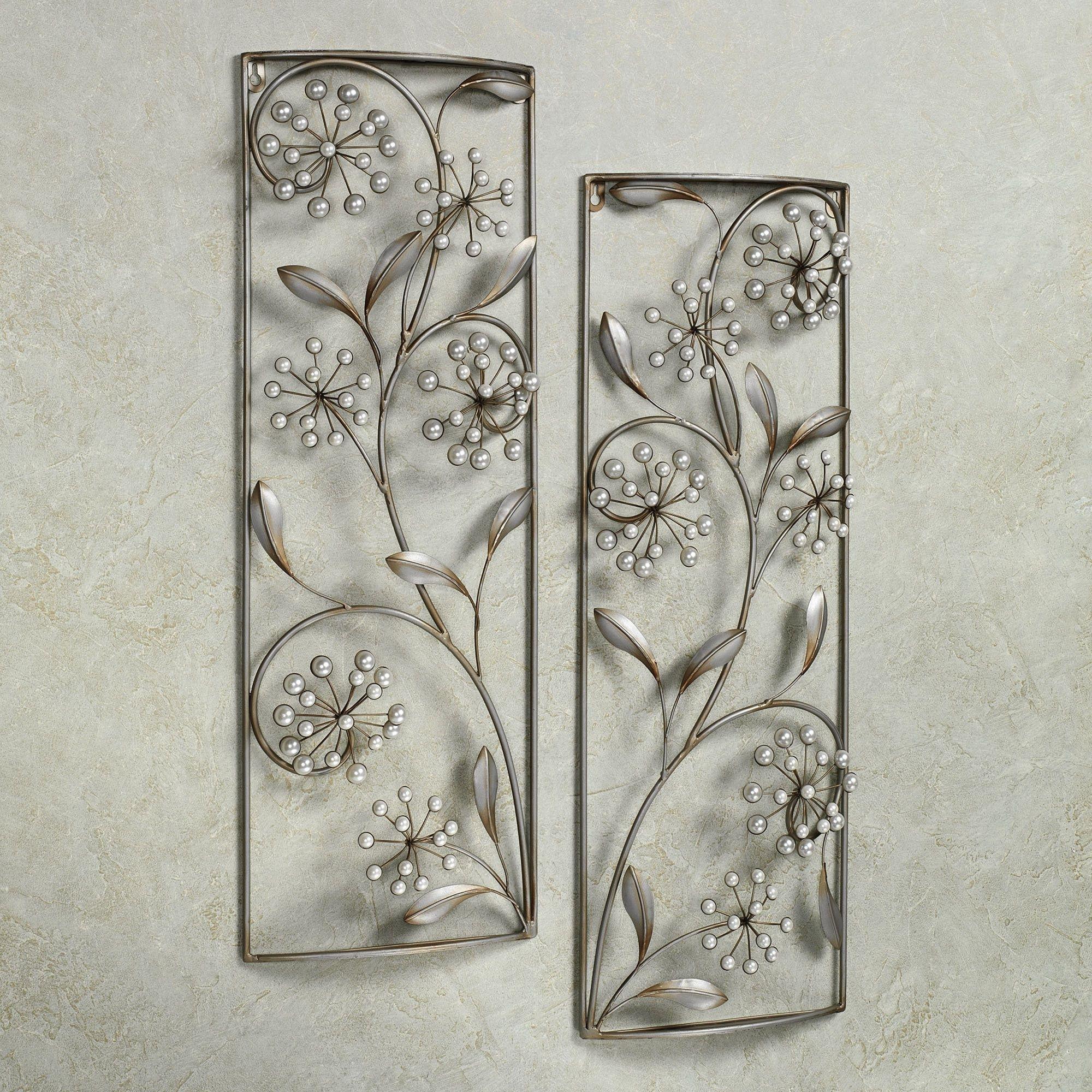Pearlette Metal Wall Art Panel Set | Ramy Ornamenty | Pinterest intended for Metal Wall Art Panels (Image 17 of 20)