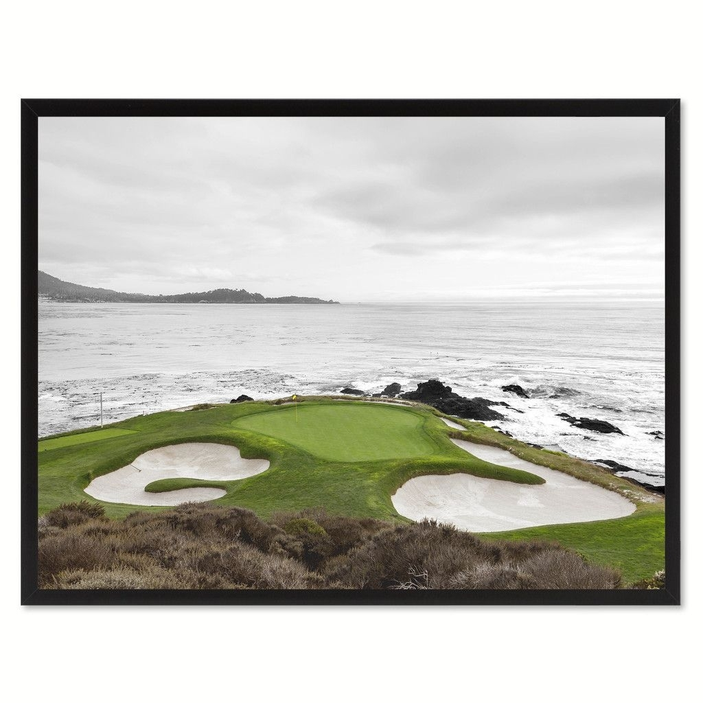 Pebble Beach Ca Golf Course Photo Canvas Print Pictures Frames Home Pertaining To Golf Canvas Wall Art (View 19 of 20)