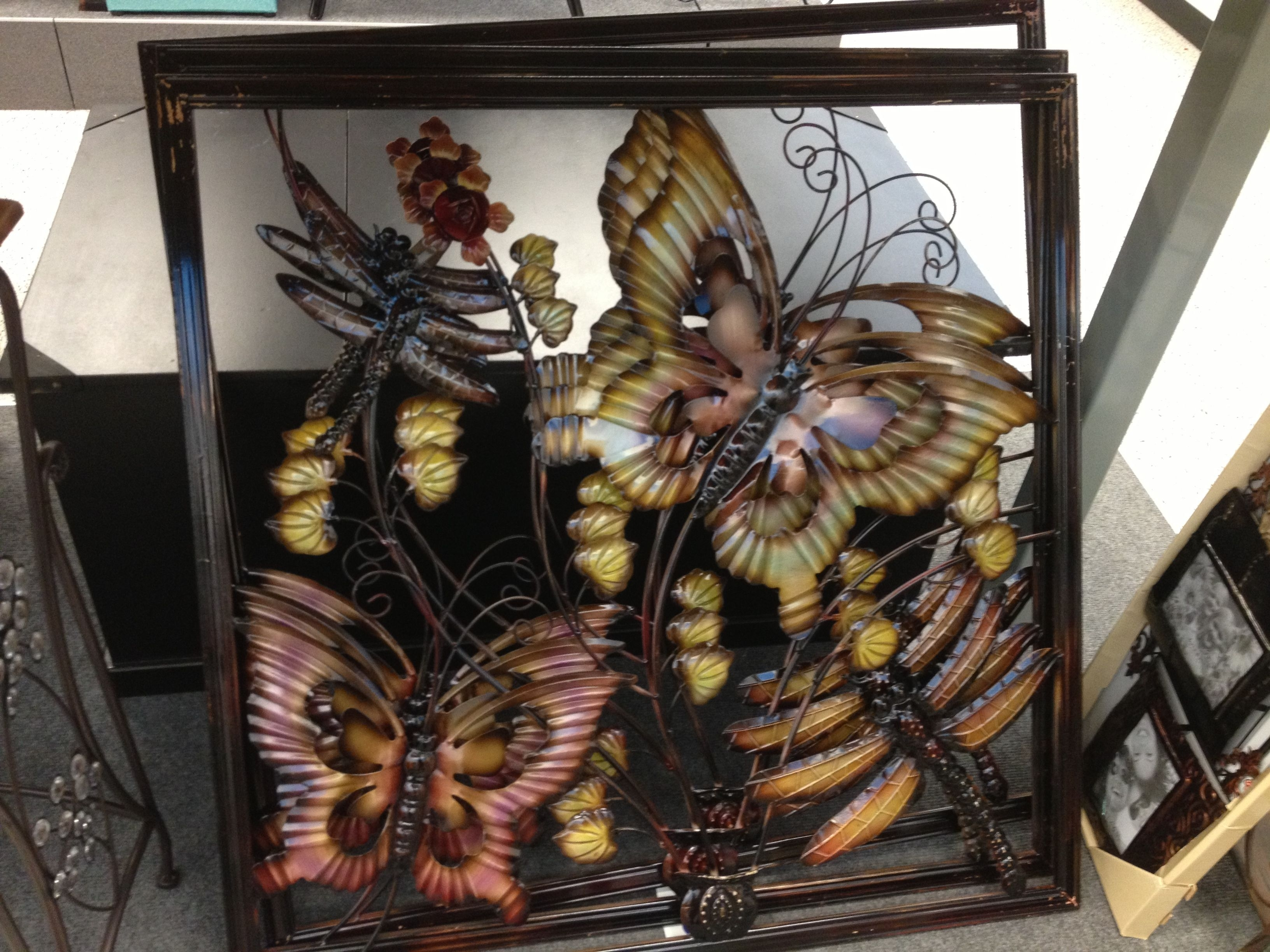 Perfect! Butterfly And Flower Metal Wall Art At Ross | Miriam's Room Pertaining To Ross Wall Art (View 12 of 20)