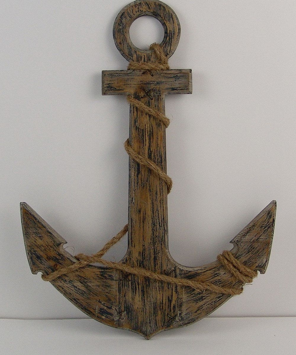 Perfect Wooden Anchor Cool Anchor Wall Decoration - Wall Decoration in Anchor Wall Art (Image 15 of 20)