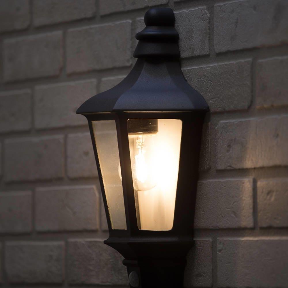 Perry Outdoor Pir Half Lantern - Dark Grey From Litecraft for Outdoor Pir Lanterns (Image 14 of 20)