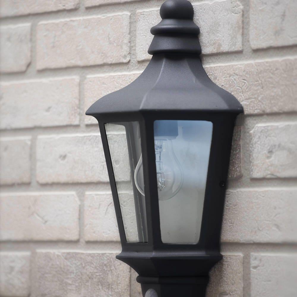 Perry Outdoor Pir Half Lantern   Dark Grey From Litecraft Intended For Outdoor Grey Lanterns (Photo 3 of 20)