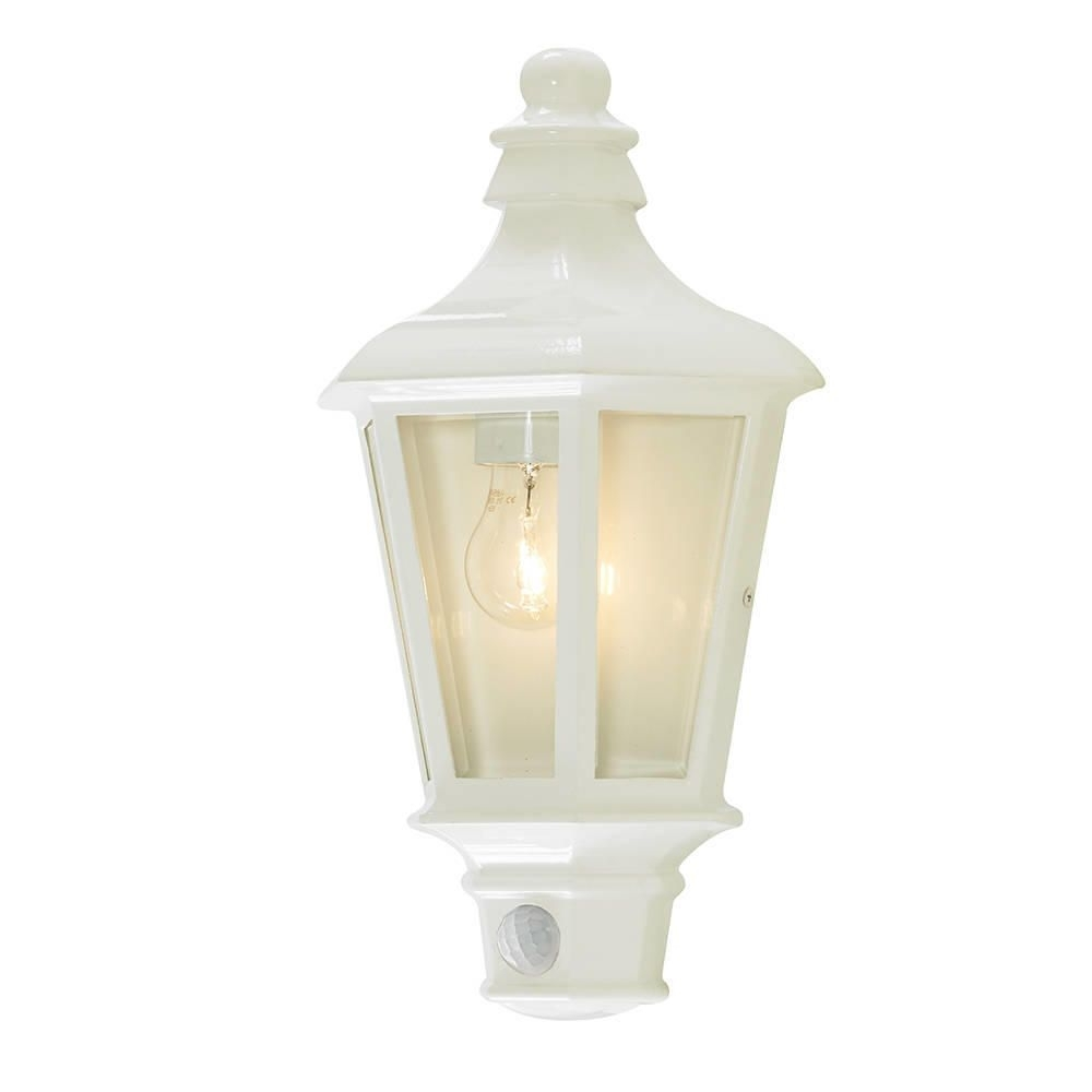 Perry Outdoor Pir Half Lantern   White From Litecraft In Outdoor Pir Lanterns (Photo 18 of 20)