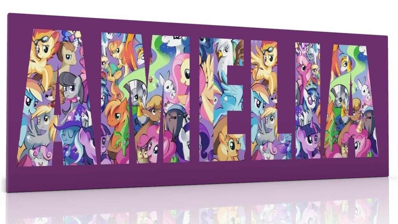 Personalised Canvas Wall Art My Little Pony Choose From 2 Designs inside My Little Pony Wall Art (Image 17 of 20)