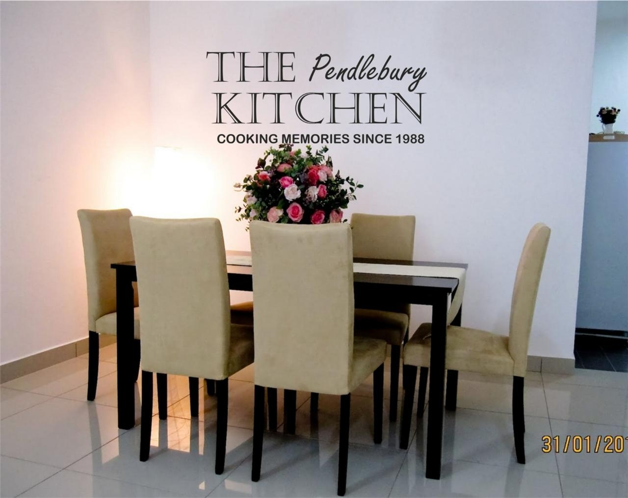 Personalised Family Kitchen Wall Art Sticker Any Name And Year Available Throughout Kitchen Wall Art (View 18 of 20)